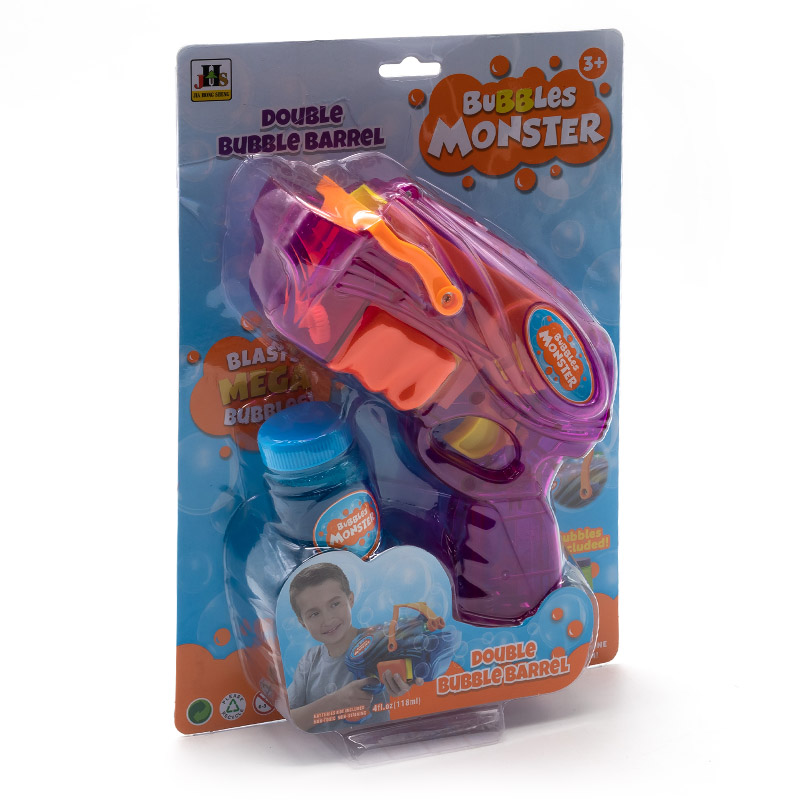 Pistol cu bule de săpun Bubble Monster, violet